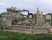 Picture of Natural Gas Production Equipment with SCADA Remote Monitoring Equipment